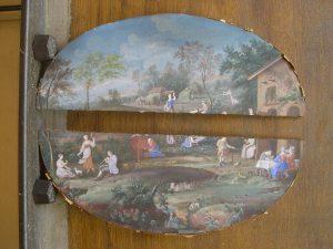 Avant restauration (panneau cassé en deux parties)