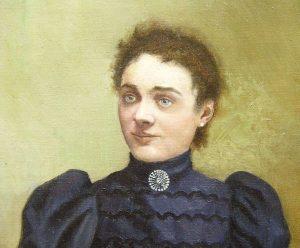 Portrait de dame, huile sur toile (restaurée)