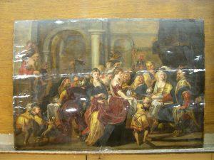 Le festin d'Hérode, copie d'après Rubens (recollé)